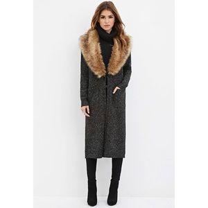 Faux Fur Longline Cardigan